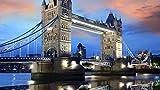 Rompecabezas para adultos, juegos de rompecabezas de temas para la familia, rompecabezas de cartón, juegos educativos, rompecabezas de desafío mental para niños (Tower Bridge) -500 piezas (52x38 cm)