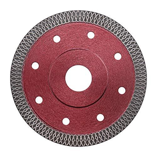 Disco de corte de hoja de sierra de diamante fino 125 x 22,23 x 1,2 mm, amoladora de ángulo rojo para azulejos de porcelana, granito, mármol, cerámica, ladrillo de piedra
