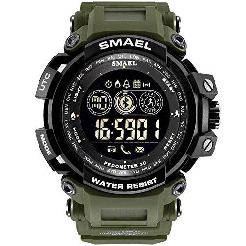 smartwatch Bluetooth 4.0 Step Counter Herinnering Smart Watch Sport Elektronische Horloge Ondersteuning Ios Android Horloge 54Mm-Militair Groen