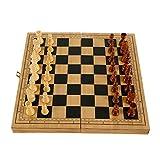 HJUIK Juego de ajedrez internacional juego de ajedrez plegable con juego de fieltro, juegos de mesa de damas, entretenimiento, adultos y niños (color: 29 x 14,5 x 4,8 cm)