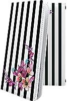 Xperia5 ケース 手帳型 花柄 花 フラワー ストライプ ボーダー マルチストライプ エクスペリア 和柄 和風 日本 japan 和 xperia 5 おしゃれ 10102-4oegrs-10001657-xperia 5