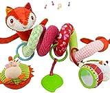 Joytea Spirale d'activité avec Jouets à Suspendre à la Poussette, au Landau ou au lit de bébé Petit Renard