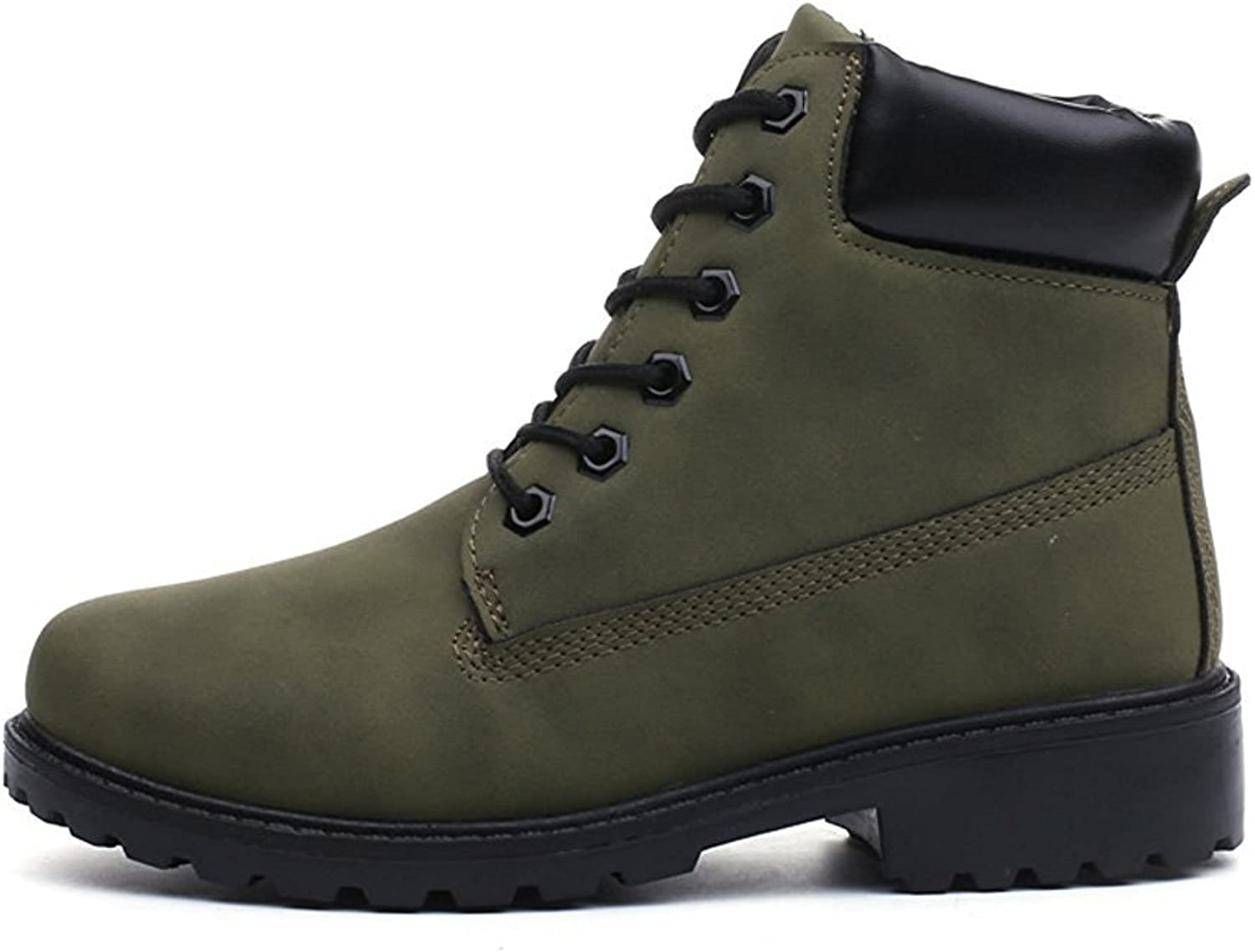 Sothingoodly Nice Unisex Short Combat Chelsea Retro Lace Up Martin Ankle High Tops Boots Work Hiking Trail Biker shoes