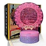 KangYD Ramadan Muster 3D Nachtlicht, LED visuelle Lampe, Festival Geschenk, G - Handy-Kontrollbasis,...