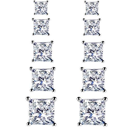 925 Sterling Silver Stud Earrings f…