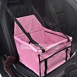 Dog Cat Pet Puppy Safety Car Seat Cover Booster Travel Bag Mat Soft Cage New (Pink)