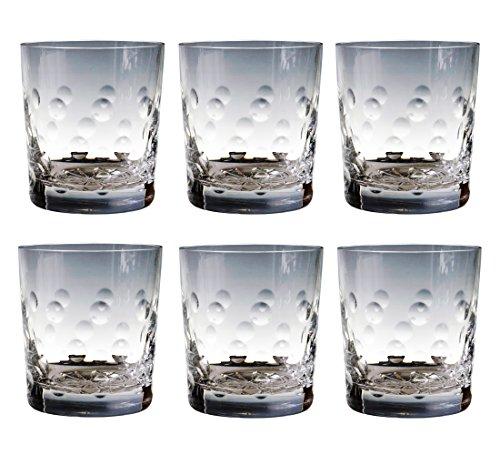 CRISTAL DE PARIS-Pastille - 6 Pièces Verre à Whisky en Cristal-Set de 6