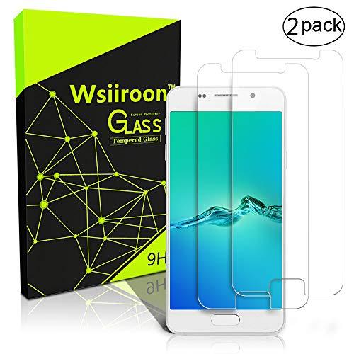 wsiiroon [2 Stück Panzerglas für Samsung Galaxy A3 2016 Schutzfolie, Panzerglasfolie Mit 9H Super-Festigkeit, Blasenfrei & Kratzfest für Samsung A3 2016 Bildschirmschutzfolie