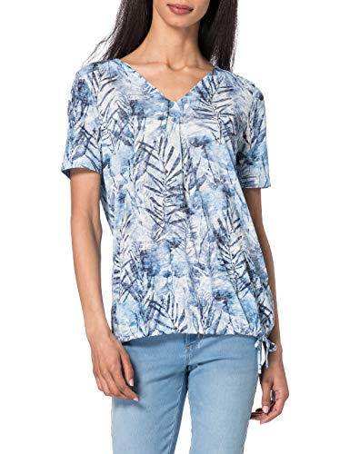 Gerry Weber Casual T-Shirt 1/2 Arm, Stampa Blu, 54 Donna