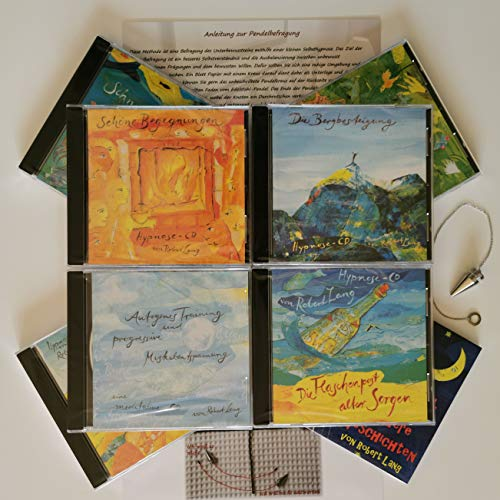 Sparpaket 7 Meditation-CDs mit Atem-Entspannung, Hypnose, autogenes Training, progressive Muskelentspannung + Pendel zur Traumdeutung + Zugabe CD