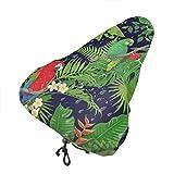Cubre Cojín del Asiento De Bicicleta,Made Tropical Birds Leaves Amazon Bike Seat Cover, Fundas De Asiento De Bicicleta Resistentes Al Agua para Adolescentes Y Jóvenes,24x27cm