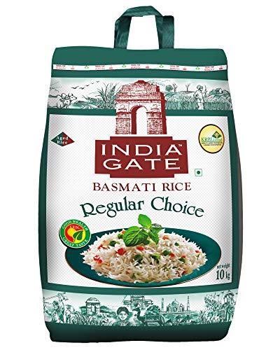 INDIA GATE Regular Choice Aged Basmati Rice - Everyday Rice, 10 Kg Pack