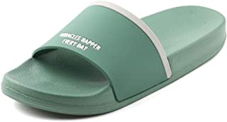 Candys house Men's Summer Slip Simple Slippers Indoor Bathroom flip-Flops Outdoor Casual Beach Shoes (Color : Green, Size : L)