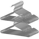 AUV ハンガー すべらない PVC特殊ラバー加工 30本組 セット 洗濯ハンガー 衣類ハンガー 多機能ハンガー 滑り止め 変形にくい 物干しハンガー hanger すべらない 曲がらな 超強い荷重 乾湿両用 PVCハンガー(グレー)