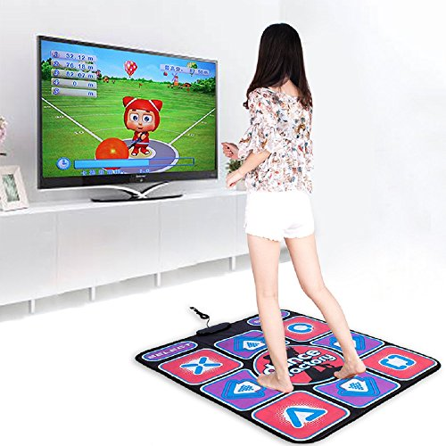 Puronic Non-Slip Dance Mats Rhythm and Beat Game Dancing Step Pads USB Lose Weight Pads Dancer Blanket with USB Entertainment for PC Laptop (Pattern 1, 30 mm Thick)