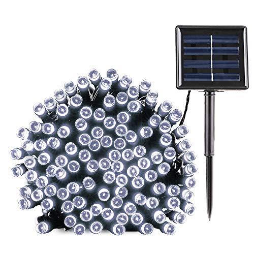 Solar Lichterkette Außen, BrizLabs 22M 200 LED Solarlichterkette Wasserdicht Außenlichterkette 8 Modi Solar Beleuchtung Deko für Garten, Terrasse, Yard, Haus, Hochzeit, Weihnachten, Kaltweiß
