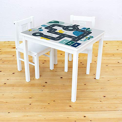 Limmaland Möbelaufkleber Straßen - passend für IKEA KRITTER Kindertisch - Kinderzimmer Spieltisch - Möbel Nicht inklusive