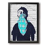 魅力的な芸術 Banksy バンクシー アートパネル ポスター モダン 北欧 印象派 インテリア キャンバス