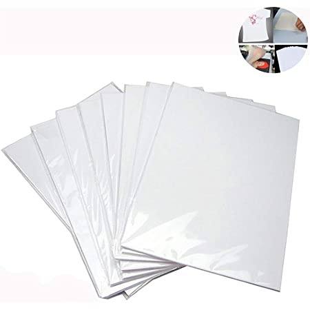 10x A4 Heat Transfer Iron-On Paper For DIY Non-cotton Light Fabric Cloth T-shirt