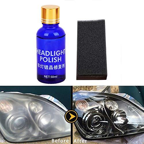 Draulic Reparaturflüssigkeit für Autoscheinwerfer ohne Schleifmittel Runderneuerungsmittel für Autoscheinwerfer Kratzer Oxidierte Beschichtung Reparaturflüssigkeit -50ml