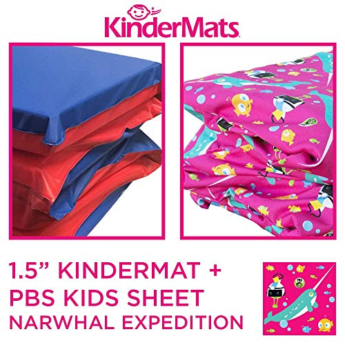 KinderMat, KinderBundle, Includes 1.5' and PBS Kids Full Cover Sheet, Narwhal Expedition, Regular