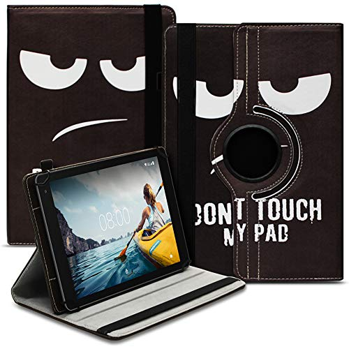 UC-Express Tablet Hülle kompatibel für Medion Lifetab P8502 Tasche Schutzhülle Hülle Cover aus Kunstleder Standfunktion 360° Drehbar, Farben:Motiv 3