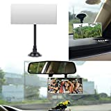 Square Baby Car Mirror, Ampper 360?? Rotate Adjustabe Suction Cup/Long Arm Rear Facing Mirror