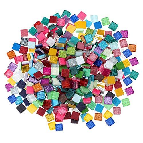 SUPVOX 300g Azulejos de mosaico de colores mezclados mosaico de vidrio diy artesanía decoración
