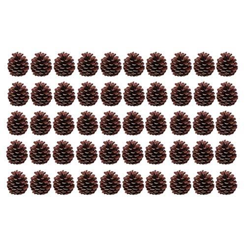 Toyvian 50 Piezas 6-8 cm Conos de Pino Natural de Navidad decoración de piña decoración de árbol de Navidad...