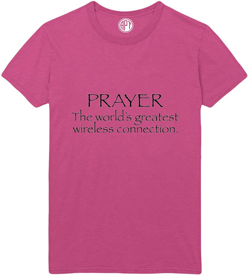 Prayer The World's Greatest Wireless Connection Printed T-Shirt - Sangria - XLT