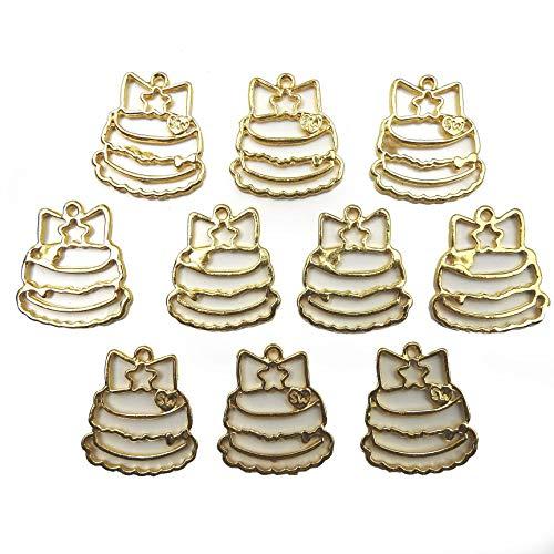 【HARU雑貨】レジン空枠 ゴールド 10枚セット tg33 金/デコレーションケーキ/フレーム チャーム ハンドメイド パーツ