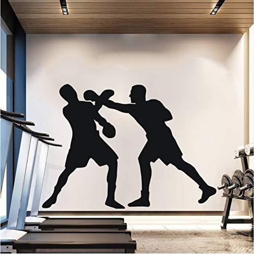Pbbzl Boxershorts voor aan de muur, huisdecoratie, sport, twee mannen, muurstickers, 57 x 71 cm