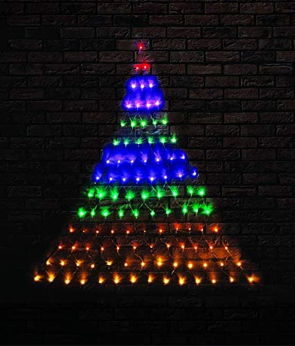 """discount SkyMall 65"""" Indoor/Outdoor Decorative LED String Light popular Christmas high quality Tree Wall Net - Multi-Color online sale"""
