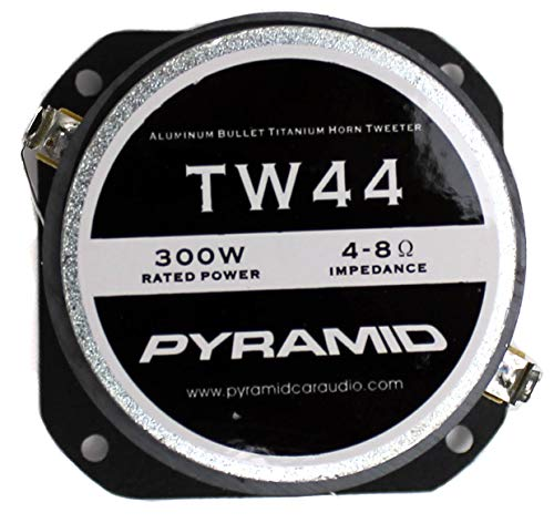 "Pyramid TW44 1"" 1200W Heavy Duty Titanium Dome Bullet Car Super Tweeters"