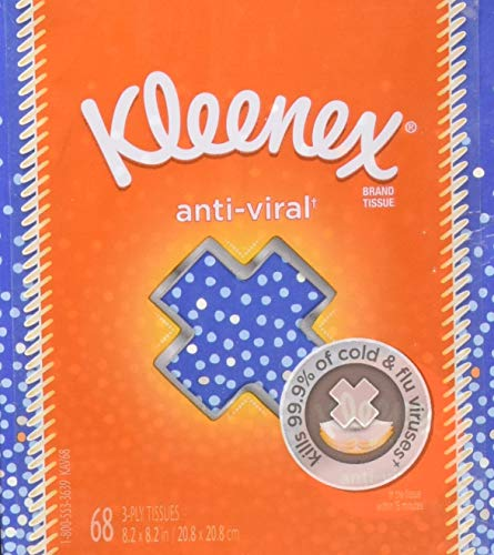 KimberlyClark Professional Kleenex AntiViral Facial Tissue Cube  Pack of 6