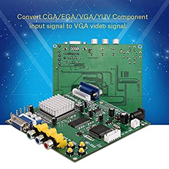 Socobeta Arcade Game HD Video CGA/EGA/YUV/RGB to VGA Adapter Board Converter Board with 6Pin Signal Wire for CRT LCD PDP Monitor
