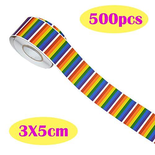 Neborn 500PCS Regenboog Vlag Gay Pride Sticker Vlag LGBT Patches Regenboog Geborduurd Ijzer Op patch Voor Kleding Gay Pride Badge