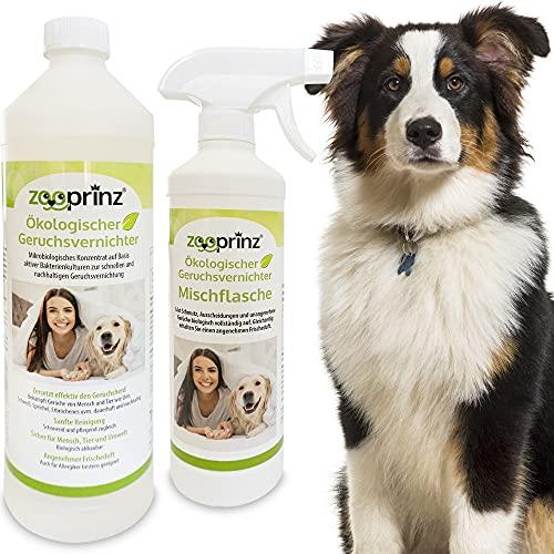100% natürlicher Geruchsentferner Konzentrat - Geruchsneutralisierer und Enzymreiniger - Hygienische Reinigung in Haushalt und Tierhaltung - Effektiver Geruchskiller bei Urin, Speichel,Erbrochenem