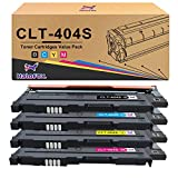 HaloFox 4x Cartuchos de tóner para Samsung Xpress CLT-P404C (CLT-K404S CLT-C404S CLT-M404S CLT-Y404S) SL-C430W SL-C480FN SL-C480FW SL-C480W SL-C432W SL-C433W SL-C482FW SL-C482W SL-C483FW SLC483W