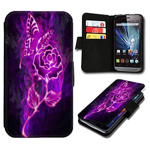 sw-mobile-shop Book Style Huawei Ascend Y635 Premium PU-Leder Tasche Flip Brieftasche Handy Hülle mit Kartenfächer für Huawei Ascend Y635 - Design Flip SB298