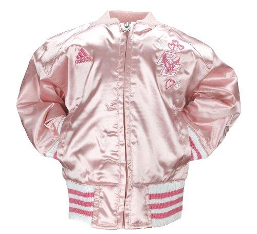 Adidas NCAA Mädchenjacke für Kleinkinder und Kleinkinder, rosa Satin, Cheer-Jacke, Team-Optionen, Mädchen, Boston College Eagles, 4T