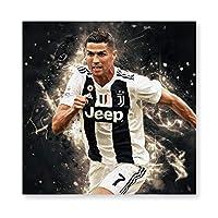 Cristiano Ronaldo C 壁掛け 部屋飾り 掛け絵 キャンバス素材 背景絵画 壁アート 装飾 軽くて取り付けやすい