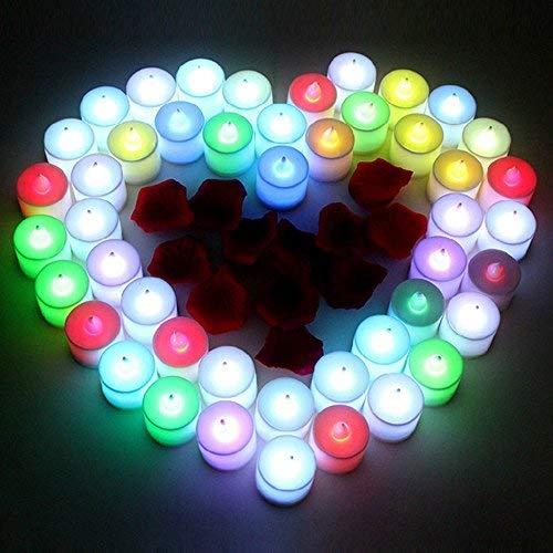 BAAQII 24 stuks vlamloze kaarsen afstandsbediening bruiloft LED waxinelichtjes kleurverandering