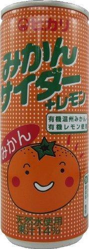 ヒカリ 有機みかんサイダー+レモン250ml