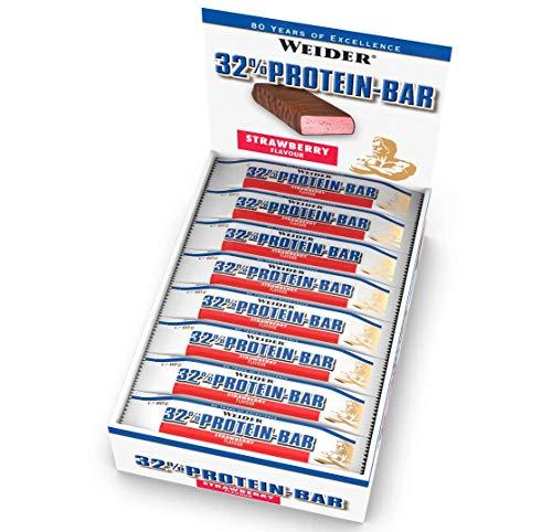 Weider 32% Protein Bar, Fresa - 24 Barras