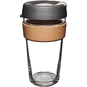 KeepCup Brew Cork, Reusable Glass Cup, Large 16oz | 454mls, Press