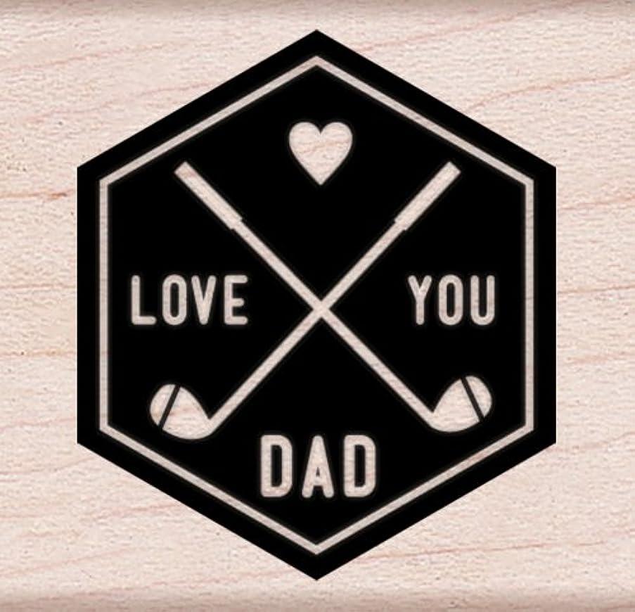 Hero Arts I Love You Dad Woodblock Stamp
