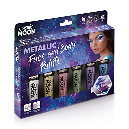 Cosmic Moon - Metallic-Gesichtsfarbe/Make-Up für Gesicht & Körper - 12ml - Erstellen Sie...