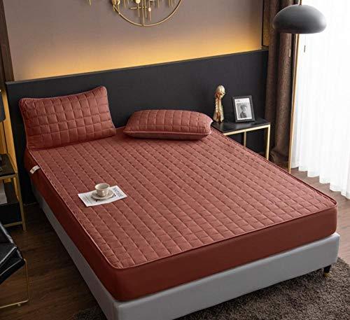 XLMHZP Sábanas bajeras dobles, gruesas y suaves, sábana bajera ajustable, protector de colchón acolchado, funda de cama King extra profunda (30 cm de profundidad) - V_90 x 200 cm + 30 cm