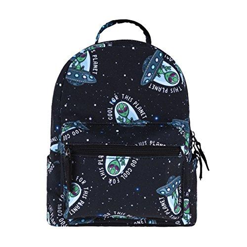 Fringoo Women's Girls Mini Backpack Fashion Travel Small Hand Luggage School Handbag (Cool Alien - mini)
